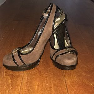 Nine West Brown Suede Heels 7 1/2